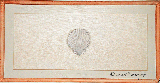 Casart Faux Plaster Scallop Shell Panel, as seen on Slipcovers for your walls, casartblog