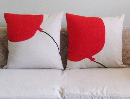 red balloon series pillow by pillowhappy on Etsy