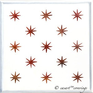 Casart coverings Red Star White Panel Insert temporary wallpaper_casartblog
