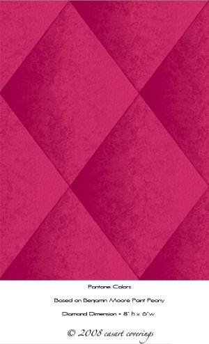 faux padded harlequin casart in pink as seen on casartblog