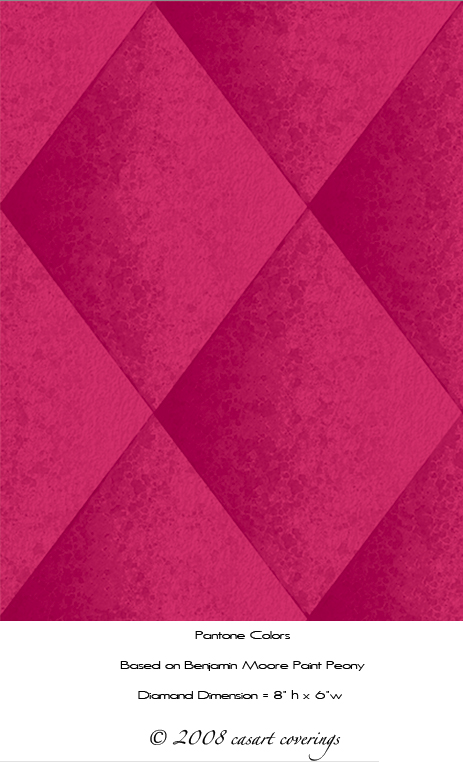faux padded harlequin casart in pink as seen on casartblog