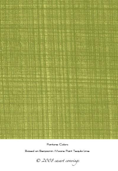 Casart green faux linen