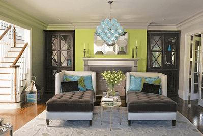 Lime living room decor_casartblog