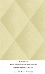 Casart coverings Beige Faux Padded Harlequin temporary wallpaper_casartblog