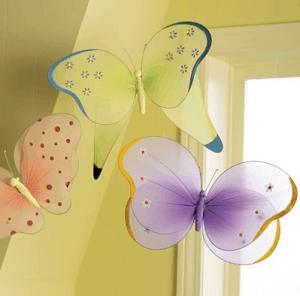 Kids Handmade Nylon Hanging Butterflies_casartblog