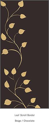 casart Leaf Scroll_Chocolate and Beige