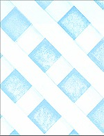 Casart coverings Faux Lattice in cerulean blue temporary wallpaper_casartblog