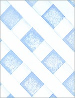 Faux Lattice with Blue Shadow