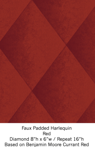 faux-padded-harlequin-in-red