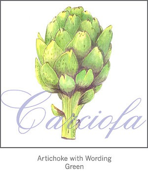 Casart Artichoke comes with or without wording and in a pattern