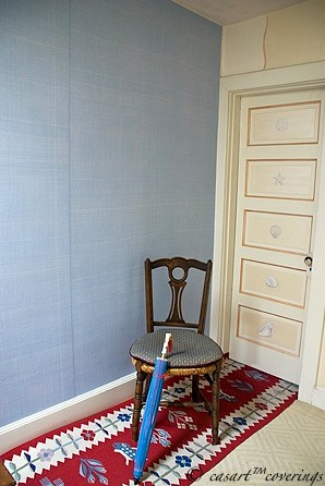 Casart coveringsFaux Linen & Faux Plaster Shells on Door on Slipcovers for your walls, casartblog
