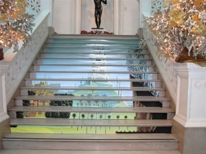 Cinderella's castle stair mural, New Orleans Museum of Art_casartblog