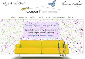 Casart coverings Mardi Gras Gift Card_casartblog