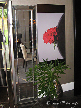 Casart stock carnation photo used in an Entryway