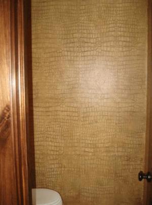 crocodile wallcovering on casartblog