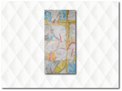 Artwork with Casart coverings White Faux Padded Harlequin temporary wallpaper_casartblog