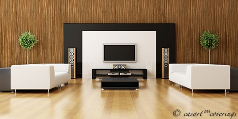 Casart coverings Contemporary Zebrawood Organics temporary wallpaper in room_casartblog