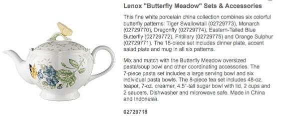 Lennox Butterfly Teapot_casartblog