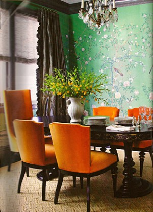 De Gournay wallpaper Trad Home April 2010_casartblog