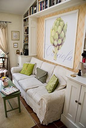 Casart coverings framed Artichoke temporary wallpaper 2_casartblog
