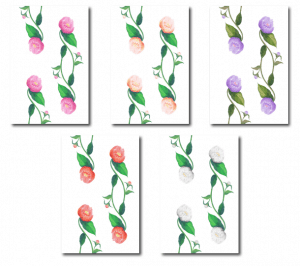 Casart Coverings Peony botanical pattern temporary wallpaper_casartblog