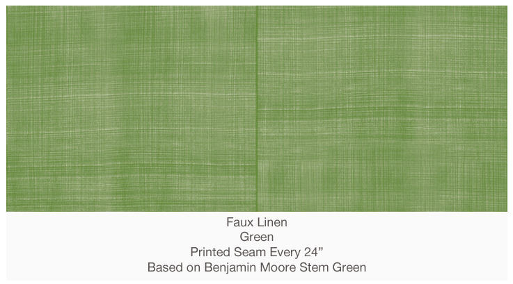 casart_green_faux_linen on Slipcovers for your walls, casartblog