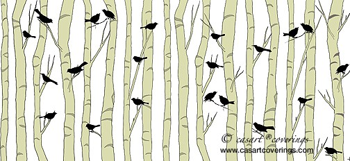 Casart-coverings_Black Birds_Beige_casartblog