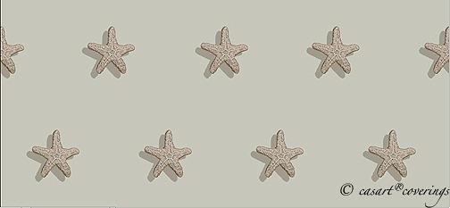 Casart Starfish Pattern, Dark Sand