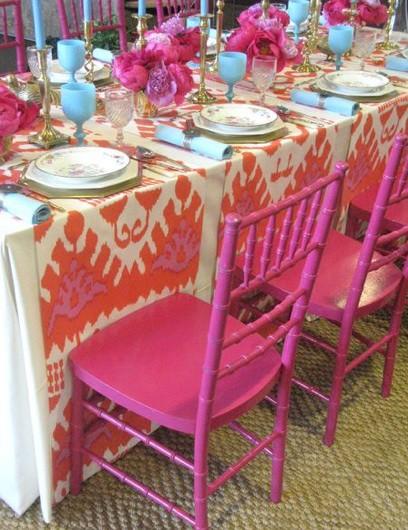Pink Orange Table design by designer, Eddie Ross_casartblog