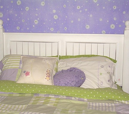 Fireflies bedroom after2_casartblog as seen on Slipcovers for your Walls