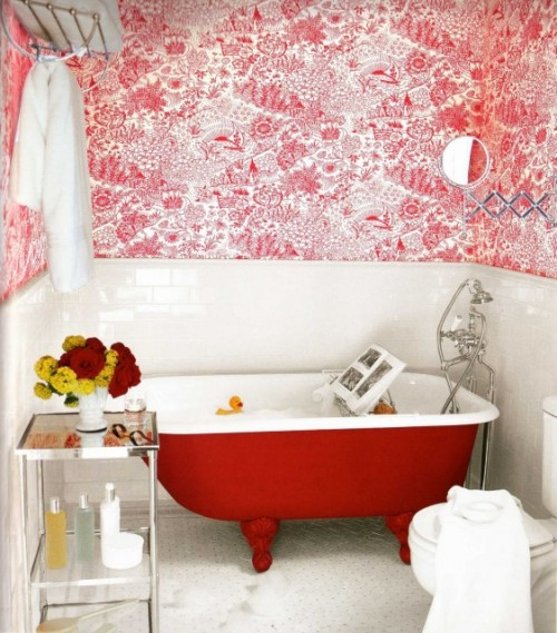 Eclectic claw foot bathroom from Houzz_casartblog
