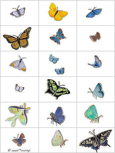 casart-coverings_Butterfly_Grid, as seen on Slipcovers for your walls, casartblog