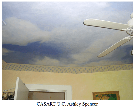 casartcov_lattice_ceiling_casartblog, as seen on Slipcovers for your walls