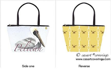 Casart coverings_Gulf Coast Pelican and Cotillion-purse-prototype_casartblog