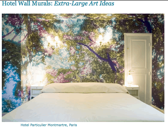 Large Scale Wall Art via Apartment Therapy on casartblog