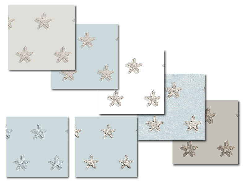Starfish pattern from Casart coverings Figurative Designs & Murals_casartblog