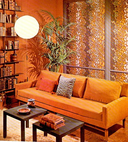 Orange Decor room example from Roxxn, as seen on Slipcovers for your walls