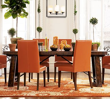 Orange Pottery Barn Chairs seen on Slipcovers for your Walls, casartblog