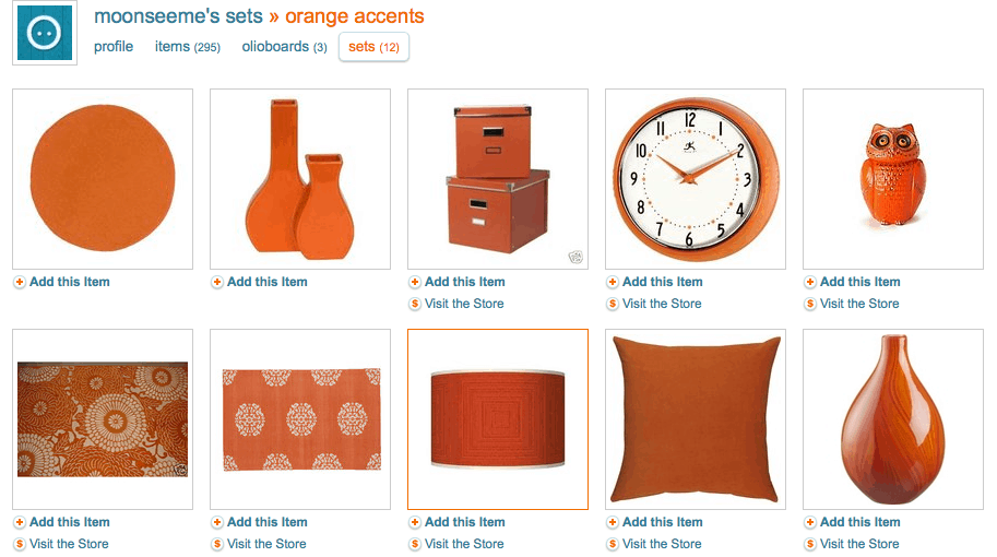 Orange home accent accessories seen on Slipcovers for your walls, casartblog