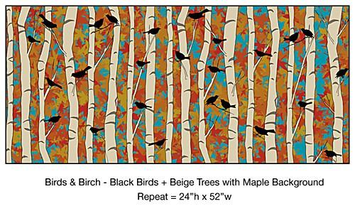 Casart_DR__Bold-Birds-Birch_casartblog, seen on Slipcovers for your walls