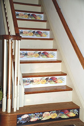 Casart coverings after Della Robbia Stair Risers on Slipcovers for your walls, casartblog