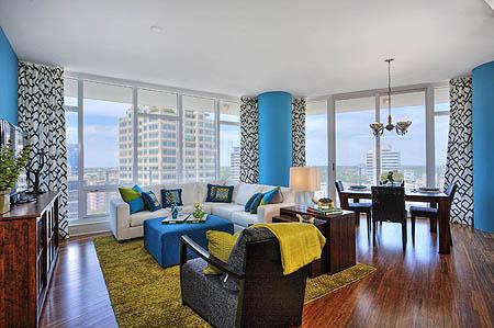 Studio M - Tampa condo. Photos via Studio M & Decorati, as seen on casartblog