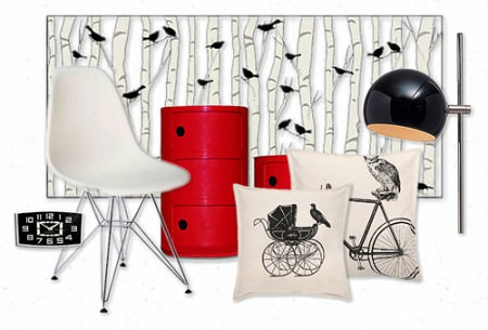 Olioboard-Pengerkatu+Birds-Birch_Slipcovers for your walls, casartblog