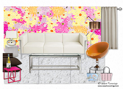 Honeysuckle_Olioboard_casartblog, as seen on Slipcovers for your walls