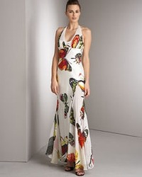 butterfly print dress via Stylist, as seen on Slipcovers for your walls, casartblog
