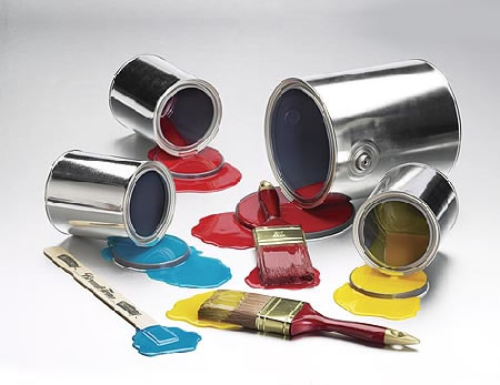paint cans and brushes_casartblog