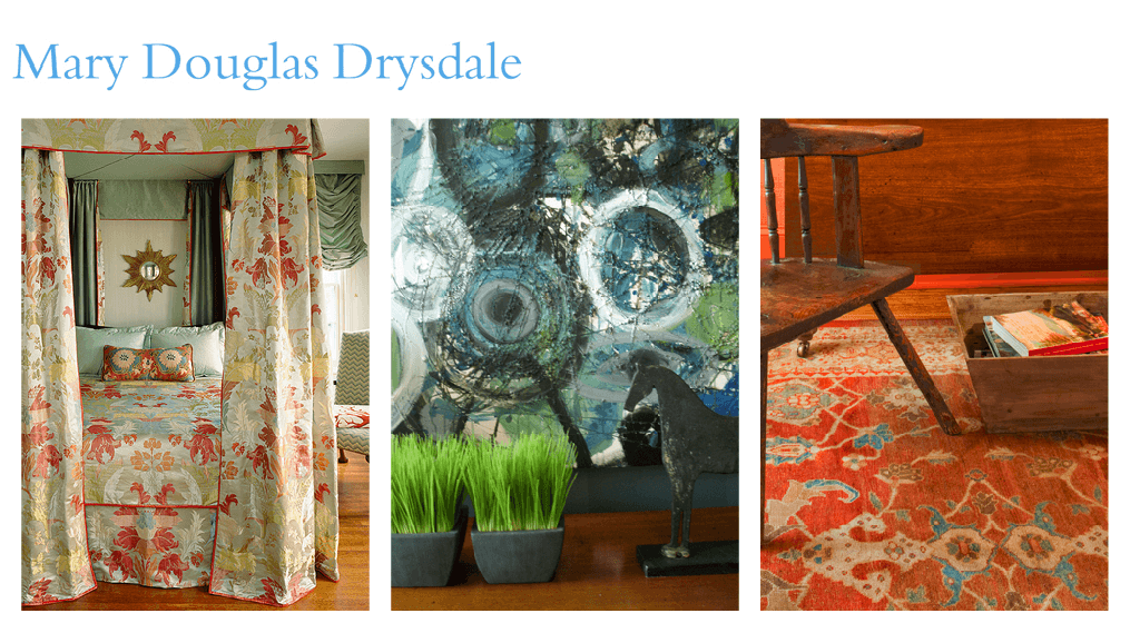 Mary Douglas Drysdale on Slipcovers for your walls, casartblog