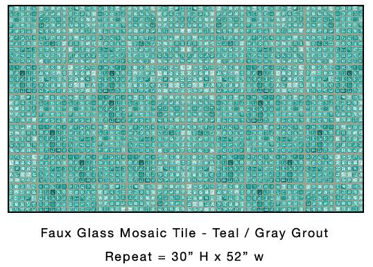 Casart-coverings_Teal Faux Glass Mosaic Tile_casartblog