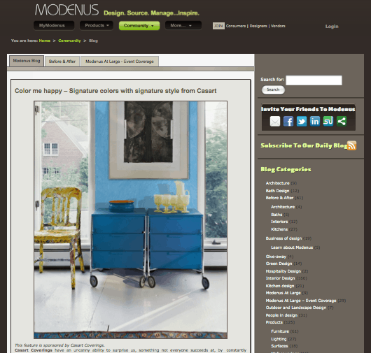 Casart featured on Modenus