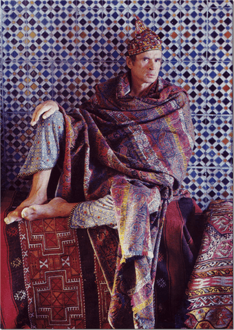 Nureyev with kilims at Li Galli_casartblog